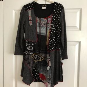 Stylish multi color tunic